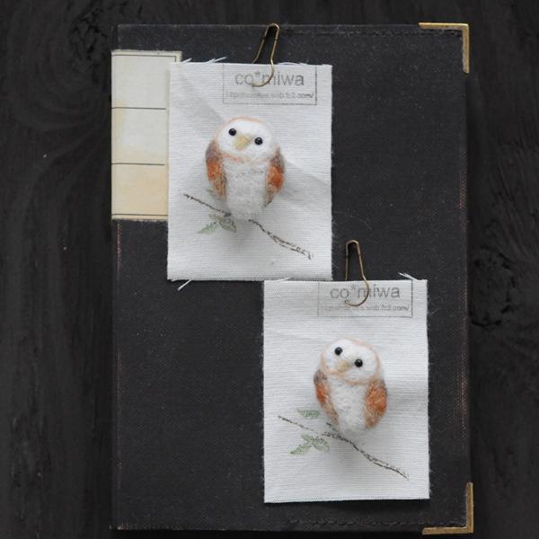 needle felting owls